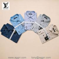 LV men plaid shirts ,printing shirts ,long sleeve shirt, brand shirts