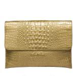 Buy cheap Wholesale Women's Bag Crocodile Glod Leather Clutches Handbags product