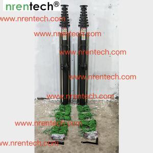Buy cheap 10m manual crank winch telescopic mast/ push telescoping mast/ aluminum telescoping mast product