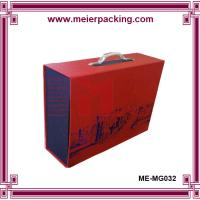Buy cheap Cardboard paper box with plastic handle, custom printing clothing storage box ME-MG032 product