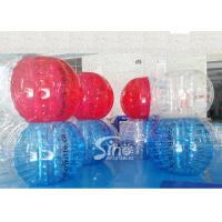 Buy cheap Durable kids N adults TPU inflatable zorb soccer ball for outdoor playing soccer games product
