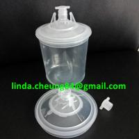 Buy cheap transparent PP spray gun paint mixing cup soft PE material 28oz cup linners/lid/stoppers sets product