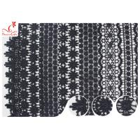 Buy cheap 120CM Width Eco Dyeing Black Lace Fabric With Floral Pattern High Color Fastness product