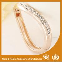 Buy cheap Gift / Decoration Zircon Gold Metal Bangles , Gold Bracelets Bangle product