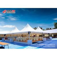 China Fire Retardant 6 By 6 Festival Party Tent Pagoda Shape With Curtain Decoration on sale