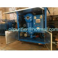 Buy cheap double stage Mobile type Vacuum transformer oil purifier, Insulator Dielectric Oil Filtration  Leybold vacuum ABB motor product
