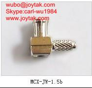High quality gold plated MCX plug right angle crimp type coaxial adapter MCX-JW-1.5B