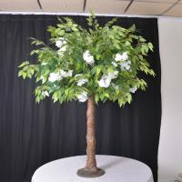 Buy cheap Flower Green Artificial Cherry Blossom Ficus Tree / Wedding Table Centerpieces Tree product