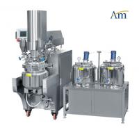 Buy cheap Hydraulic Lifting Top Cover Vacuum Emulsifying Machine For Research And Development product