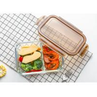 Buy cheap Storage Glass Food Container With Lid / Glass Crisper / Microwave Glass Bowl product
