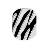 Buy cheap Fashionable PET 4C printing Portable Artificial Zebra Nail Sticker art for Girls product