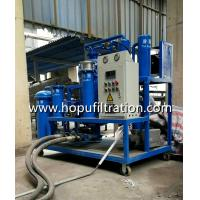 Buy cheap Site Portable Vacuum Oil Purifier waste lubricating oil, hydraulic oil, turbine oil purifying , oil recycling onsite use product