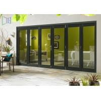Buy cheap Commercial Aluminium Alloy Bifold Doors 28dB Accordion Durable product