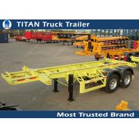 Buy cheap 2 Axles 30 tons 20 foot skeletal container trailer chassis with 11R22.5 tires product