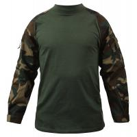 Buy cheap Digital Woodland Tactical Combat Shirt Breathable Polyester Fabric product