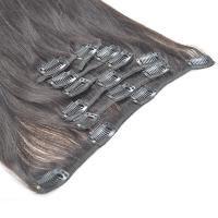 Buy cheap Natural Black Straight Human Hair Clips in Hair Extension for Black Women from wholesalers