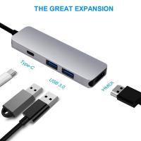 Buy cheap USB C HDMI HUB Adapter for MacBook Pro 2016/2017,4 in 1 USB 3.1 USB-C to HDMI Output,2-Ports USB 3.0 product