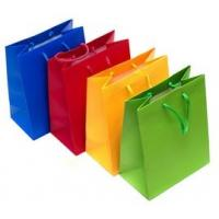 Buy cheap Personalized Printed Paper Gift Bags , Colorful Rope Handle Paper Bags product
