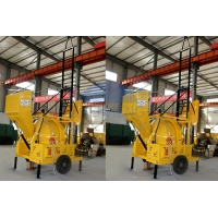 Buy cheap JZR350 Mobile Diesel Powered Supply Concrete Mixer With Hydraulic Hopper Lifting Ladder product