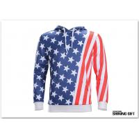 Buy cheap Unisex USA American Flag Printed Long Sleeve Pockets Slim Pullover Hoodie from wholesalers