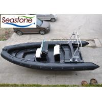 Buy cheap Black Rigid Hulled Inflatable Boat With Center Console And Standing Seat product