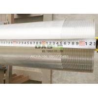 Buy cheap 6 5/8 Water Well Screens 304 Pickled Silver Stainless Steel Casing and Tubing Pipes product