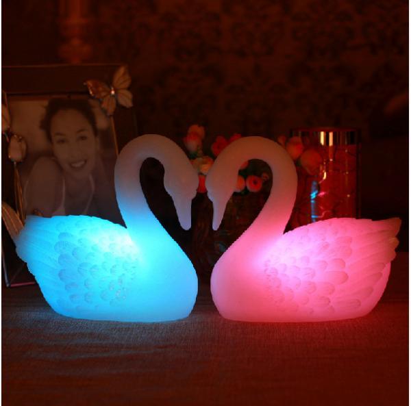 Swan gift female swan night light pediatrics black swan for Small led lights for crafts michaels