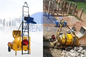 Buy cheap Hydraulic Hopper 350L 14m³/H JZR350T Diesel Cement Mixer With Ladder product