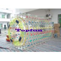 Buy cheap Cylindrical PVC / TPU Inflatable Rolling ball Ball With Multicolored D Ring product