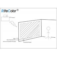 Buy cheap 3D Holographic Rear Projector Film Adhesive Grey For Glass product