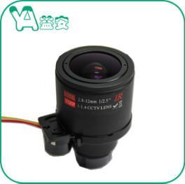 OEM ODM  Motorized CCTV Zoom Lens Focal Length 2.8-12mm M12 Mount 37 Gram