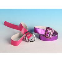 Buy cheap Custom made Female Fashion Various color Iron buckle Promotion PU Belt product