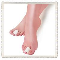 Quality soft polymer silicone white gel toe caps for sale