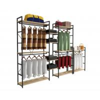 Buy cheap Modern Style Clothing Shop Display Racks Wall Mounted Clothing Rack For Shopping Mall product