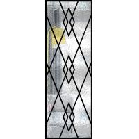 Buy cheap Decorative Wrought Iron Glass For Door Agon Filled 22*64 Inch Size Shaped product