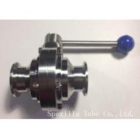 """Buy cheap TP316/316L Stainless Steel Santiary Butterfly SS Valves 1"""" for dairy product"""