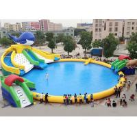 Buy cheap Silk Printing PVC Inflatable Water Parks For Inground Pools Double Stitching product