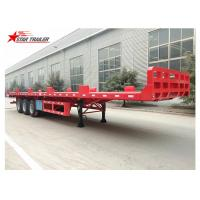 Buy cheap Heavy Equipment Transport Drop Deck Semi Trailer Manually Operated Or Hydraulic Type product