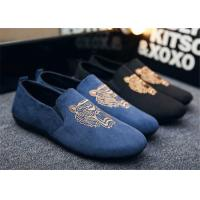 Buy cheap Autumn Slip On Vintage Loafer Shoes Embroidered Men Dress Shoes Black Blue product