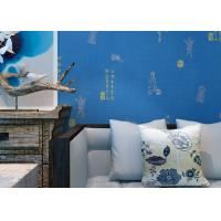 Quality Blue Carton Chinese Style Non Woven Wallcovering Soundproof For Living Room / Bedroom for sale
