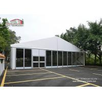 Buy cheap Hot sale 15m width white catering tent with glass walls and decoration used for banquet from Wholesalers