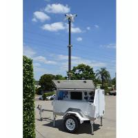 Buy cheap mobile solar trailer mounted lockable telescoping pneumatic mast aluminum mast 4.5m height product