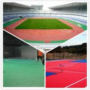 Buy cheap 3W Outdoor Football Court / Suspend Interlocking / Pvc flooring product