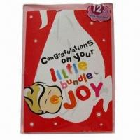 Buy cheap Promotional record greeting card, made of ivory board product