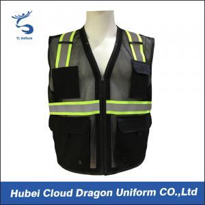 Sleeveless Reflective Tape Security Guard Vest 100% Polyester OEM & ODM