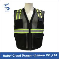 Quality Sleeveless Reflective Tape Security Guard Vest 100% Polyester OEM & ODM for sale