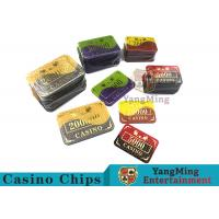 Crystal Acrylic Casino Poker Chips With Win bronzing 94 * 66mm
