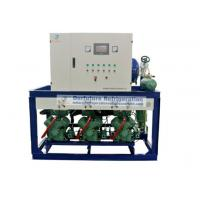Buy cheap R404a Bitzer refrigeration compressor unit for -18℃ lamb cold storage with PLC auto control system product