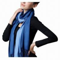 Buy cheap 100% Acrylic Scarf, Measures 200x70cm, Stripes Design  product
