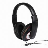 Buy cheap Headphones with 20Hz to 20kHz, 25mW Rated Power, 3.5mm Plug, 40mm Driver and 6.5mm Microphone product